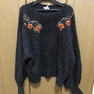 ジーユー(GU)のシャギーニット/刺繍/GU(ニット/セーター)