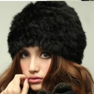 うさぎ ベレー  軽くて 柔らかく 暖かく 毛も抜けない 帽子(その他)
