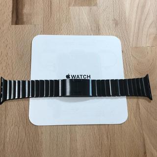 アップルウォッチ(Apple Watch)の純正 apple watch 42mm リンクブレスレット スペースブラック(金属ベルト)