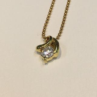 ダイヤ0.20ctネックレス ゴールドk18(ネックレス)
