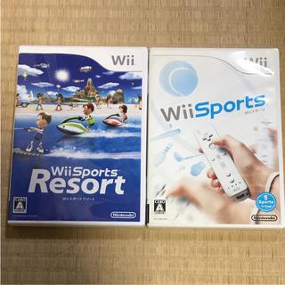 ウィー(Wii)のWiiスポーツ リゾート wii sports 2個(家庭用ゲームソフト)