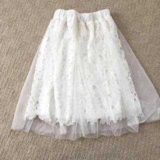 シマムラ(しまむら)のレースギャザースカート♡♡♡(ひざ丈スカート)