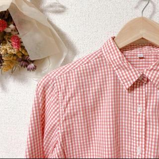 MUJI (無印良品) - ピンクチェックシャツ