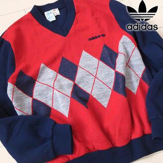 アディダス(adidas)の美品 Sサイズ アディダス 70's~80'S ヴィンテージニット(ニット/セーター)