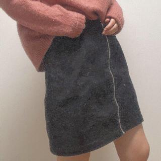 ジーユー(GU)のミニスカート 黒(ミニスカート)