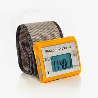 振動目覚まし時計 シェイクンウェイク 並行輸入品 オレンジ(置時計)