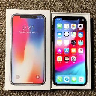 アップル(Apple)のiPhoneX 64GB au アップルケアプラス20年5月迄 おまけ多数(スマートフォン本体)