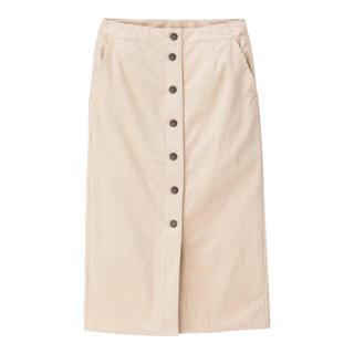 GU - コーデュロイフロントボタンタイトスカート