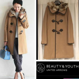 BEAUTY&YOUTH UNITED ARROWS - BEAUTY&YOUTH メルトンファーダッフルコート ユナイテッドアローズ