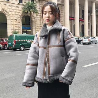 ザラ(ZARA)の韓国大人気 ムートンコート  グレー Mサイズ(ムートンコート)