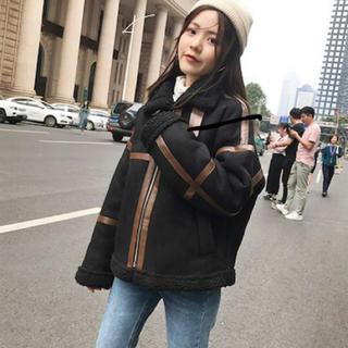ザラ(ZARA)の韓国大人気! ムートンコート  ブラック Lサイズ(ムートンコート)