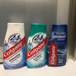 新品 Colgate コルゲート ジェル 歯磨き粉 3本(歯磨き粉)