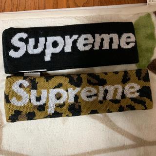 シュプリーム(Supreme)のsupreme headband 黒 レオパード(ヘアバンド)