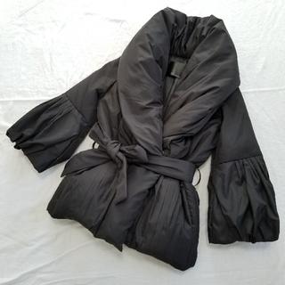 ギムレット(Gimlet)のダウン ショート丈 ジャケット 七分袖 コート 黒 ブラック 9号 M(ダウンジャケット)