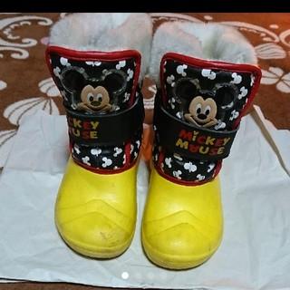 ミッキーマウス スノーブーツ 18センチ(ブーツ)