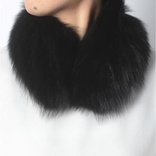 アツロウタヤマ(ATSURO TAYAMA)の新品 定価20500円 FOXファー ティペット ブラック XS ラスト一点‼️(マフラー/ショール)
