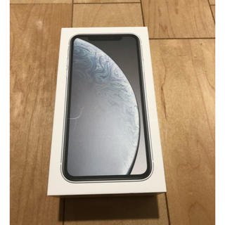 アップル(Apple)のiPhone XR 128GB White 【新品未使用】(スマートフォン本体)