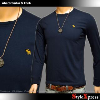 Abercrombie&Fitch - 新品 アバクロンビー&フィッチ 紺 XS ワンポイント刺繍 ロンT