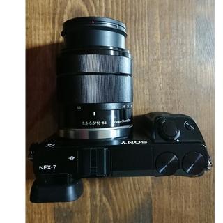 ソニー(SONY)のSONY NEX-7 ブラック レンズ セット E18-55 美品 (ミラーレス一眼)