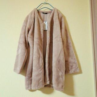 アベイル(Avail)の大きいサイズ ノーカラー ファーコート(毛皮/ファーコート)