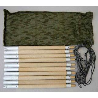 東ドイツ軍 実物 テント ポール 10本 ロープ5本セット 新品(テント/タープ)
