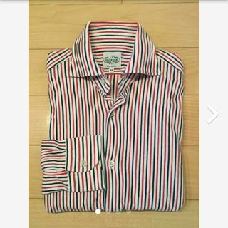 ギローバー(GUY ROVER)のギローバー 鹿の子ストライプシャツ メンズMサイズ tomorrowland別注(シャツ)