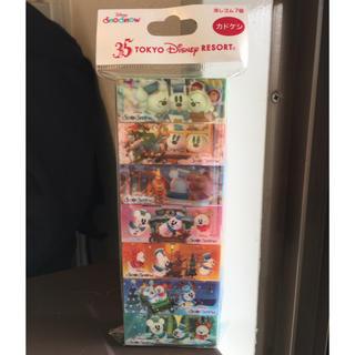 ディズニー(Disney)の☆記念半額SALE~送料込赤字覚悟☆TDL 35周年 スノースノー カドケシ(キャラクターグッズ)