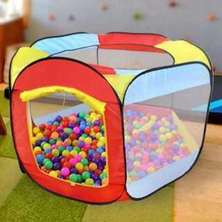楽しく知育☆ボールプール 子供用テント 遊ぶハウス 折り畳み式 収納バッグ付き(ベビージム)