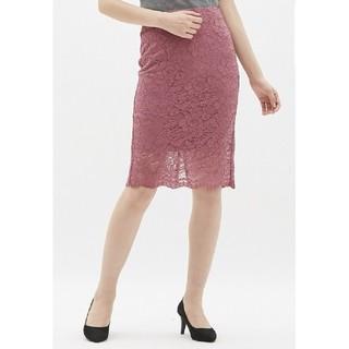 ジーユー(GU)の【美品】★GU レーススカート ピンク s (ひざ丈スカート)