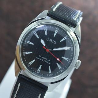 オリス(ORIS)のオリス ORIS ブラックフェイス手巻き腕時計(腕時計(アナログ))