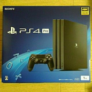 プレイステーション4(PlayStation4)の【新品】PS4 Pro 1TB CUH-7200BB01 Jet Black(家庭用ゲーム本体)