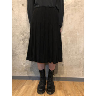ヨウジヤマモト(Yohji Yamamoto)のヨウジヤマモト ウール混ベルト付きプリーツスカート [125](ロングスカート)