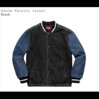 シュプリーム(Supreme)のsupreme denim varsity jacket M デニムジャケット(Gジャン/デニムジャケット)