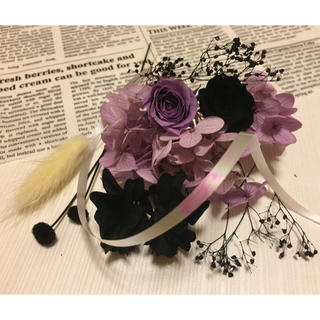 ハーバリウム花材ラベンダー&ブラック(プリザーブドフラワー)