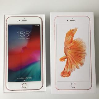 アイフォーン(iPhone)の🉐iPhone6s Plus 128GB Rose Gold & Case🉐(携帯電話本体)
