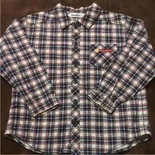 familiar - ファミリア チェックシャツ 120