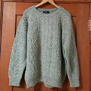 ザラ(ZARA)のZARA系 Mから ミックス縄編み ライトグレー系ウールセーターざっくりニット(ニット/セーター)