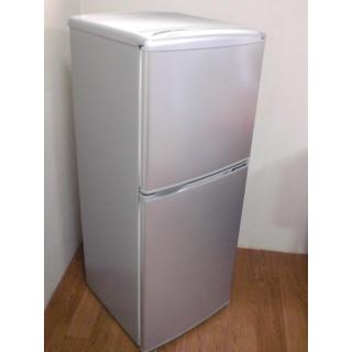 ●アクア●137L ●シルバー●2ドア ノンフロン冷蔵庫●0-1466●(冷蔵庫)