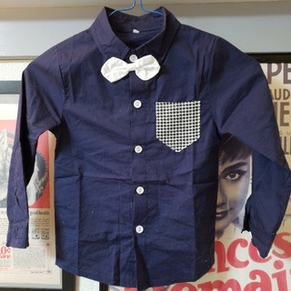 フォーマルシャツ 襟付きシャツ 蝶ネクタイ付きシャツ 110サイズ(ドレス/フォーマル)