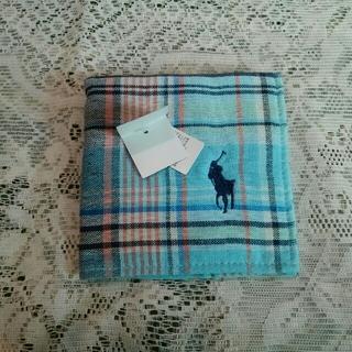 ラルフローレン(Ralph Lauren)のラルフローレン タオルハンカチ 水色(ハンカチ/ポケットチーフ)