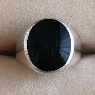(80)ブラックのトップのシンプルリング シルバー ヴィンテージ(リング(指輪))