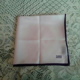 タケオキクチ(TAKEO KIKUCHI)のTAKEO KIKUCHI ポケットチーフ ピンク(ハンカチ/ポケットチーフ)