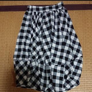 ナイスクラップ(NICE CLAUP)のナイスクラップ チェック バルーンスカート ロングスカート(ロングスカート)
