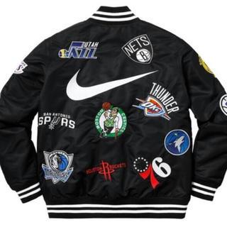シュプリーム(Supreme)の【新品同様】nike supreme nba teams jacket Lサイズ(スタジャン)