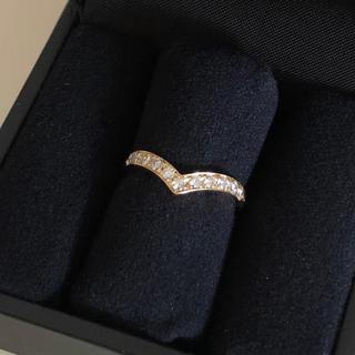 タサキ(TASAKI)の23時までタイムセール TASAKI K18 V字リング ダイヤモンド(リング(指輪))
