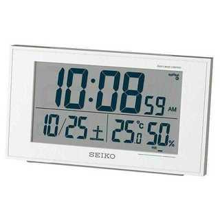 セイコー クロック 目覚まし時計 電波 デジタル カレンダー 快適度(置時計)