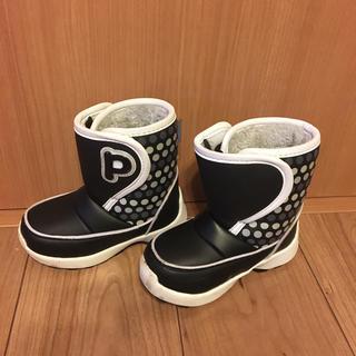 冬用 スノーブーツ キッズ 17-18 雪遊び長靴 黒色 pookies(長靴/レインシューズ)