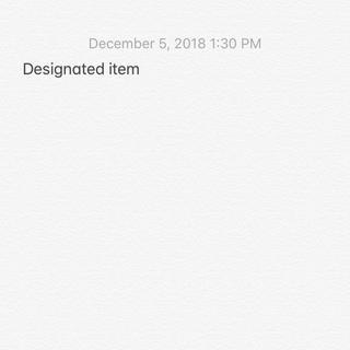 Designated item(パーカー)