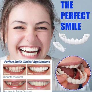 パーフェクトスマイル 虫歯&歯の欠損をカバー 専用ケース&粘着グリップ付(その他)