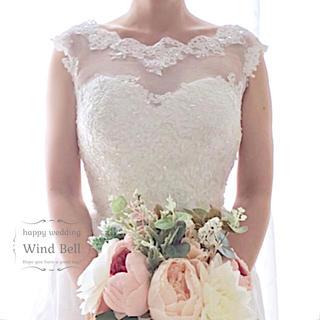 ろん様専用♡9号♡フレンチスリーブ♡ブライダルボレロ♡オフホワイト(ウェディングドレス)